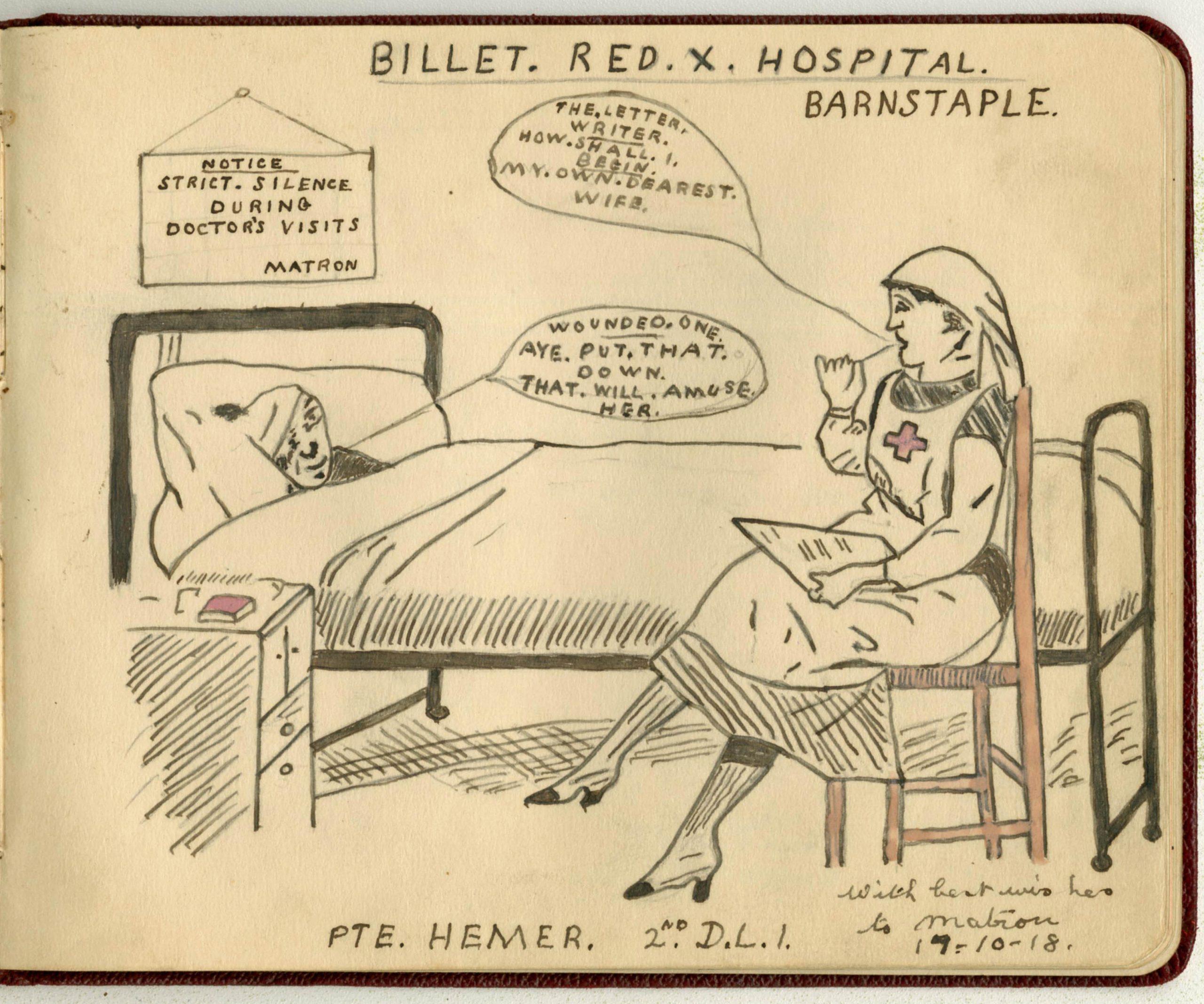 Best Wishes To Matron: Jane Appleton's WW1 autograph book.